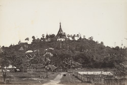 Pagodas and temples on the hill at Moulmein